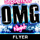 Omg Night Flyer - GraphicRiver Item for Sale