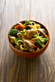 Egg noodles with vegetables in bowl - PhotoDune Item for Sale