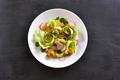 Vegetable salad on dark stone background - PhotoDune Item for Sale
