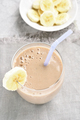 Banana smoothie in glass - PhotoDune Item for Sale