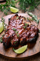 Grilled pork ribs, top view - PhotoDune Item for Sale