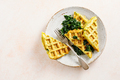 Savory waffles with spinach and cheese - PhotoDune Item for Sale