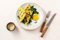 Warm waffles with spinach and cheese - PhotoDune Item for Sale
