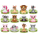 Set of Cartoon Twelve Little Animal Collection - GraphicRiver Item for Sale