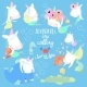 Set with Cartoon Unicorns Mermaids in the Sea - GraphicRiver Item for Sale