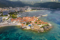 Old town in Budva in a beautiful summer day, Montenegro. Aerial image. Top view - PhotoDune Item for Sale