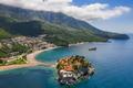 Aerial view of Sveti Stefan island in Budva, Montenegro - PhotoDune Item for Sale