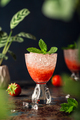 Fresh cocktail with crushed ice, strawberry and mint - PhotoDune Item for Sale