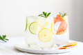 Three Glasses of Citrus Cold Water. - PhotoDune Item for Sale