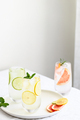 Three Glasses with Cold Citrus Water. - PhotoDune Item for Sale