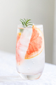 Glass with Grapefruit Water. - PhotoDune Item for Sale