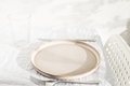 Empty Plate on White Table. - PhotoDune Item for Sale