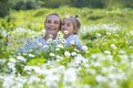 Mother and Son on Flowers Field - PhotoDune Item for Sale