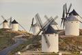 Traditional antique windmills in Spain. Consuegra, Toledo. Picturesque - PhotoDune Item for Sale