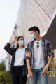 Young couple in protective masks shopping in supermarket - PhotoDune Item for Sale