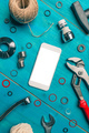 Plumbing DIY tutorial app smartphone mock up - PhotoDune Item for Sale