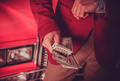 Car Salesman with Cash Dollars in His Hands - PhotoDune Item for Sale