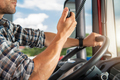 Semi Truck Driver Talking on CB Radio - PhotoDune Item for Sale