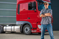 Professional Semi Truck Driver and His Heavy Duty Vehicle - PhotoDune Item for Sale