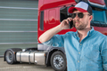 Truck Driver Ordering New Tractor Parts by Phone - PhotoDune Item for Sale