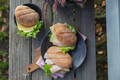Ciabatta baguette sandwiches with ham, cheese and lettuce - PhotoDune Item for Sale