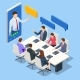 Isometric Video Conference - GraphicRiver Item for Sale