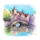Bruges Canal with Bridge Belgium - GraphicRiver Item for Sale