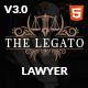 The Legato lawyer attorney HTML template - ThemeForest Item for Sale
