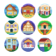 50 Houses Icons - GraphicRiver Item for Sale