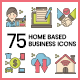 75 Home-Based Business Icons   Hazel Series - GraphicRiver Item for Sale