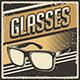 Retro Vintage Eyeglasses Signage Poster - GraphicRiver Item for Sale