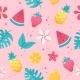 Summer Fruits Pattern - GraphicRiver Item for Sale