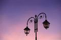 Beautiful vintage street lamp against a bright sunrise sky - PhotoDune Item for Sale