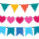 Cute vector bunting set. - GraphicRiver Item for Sale