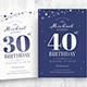Birthday Invitation with Confetti - GraphicRiver Item for Sale