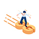 Isometric Businessman Surfing on 5g - GraphicRiver Item for Sale