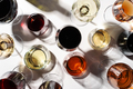 Red, rose and white wine in glasses on - PhotoDune Item for Sale
