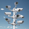 CCTV security cameras on the pole. Safety and protection concept. - PhotoDune Item for Sale