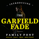 Garfield Fade Family Font - GraphicRiver Item for Sale