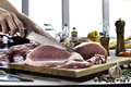 Slicing fresh raw pork - PhotoDune Item for Sale