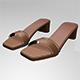 Paneled Square-Toe Block-Heel Sandals 01 - 3DOcean Item for Sale