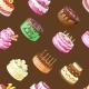 Seamless Pattern with Different Cakes - GraphicRiver Item for Sale