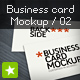Business card mockup display - Smart template 02 - GraphicRiver Item for Sale