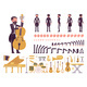 Musician Tuxedo Man Playing Classical Music - GraphicRiver Item for Sale