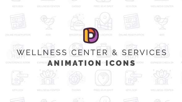 Wellness center & Services - Animation Icons