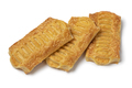 Three cheese puff pastry snacks on white background - PhotoDune Item for Sale