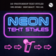 Neon Text Styles - GraphicRiver Item for Sale