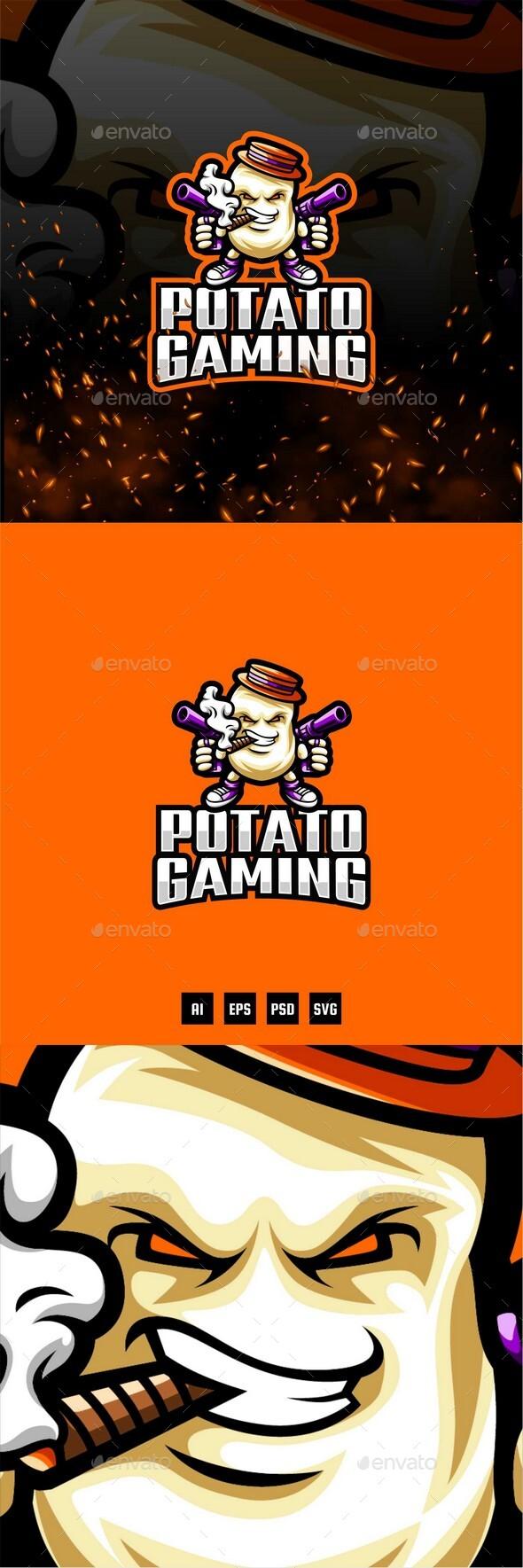 Potato Gaming E-Sport and Sport Logo Template
