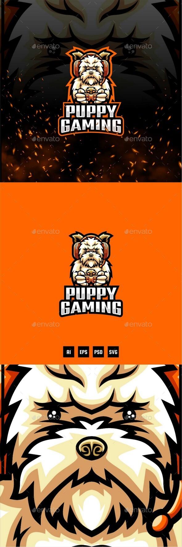 Puppy E-Sport and Sport Logo Template