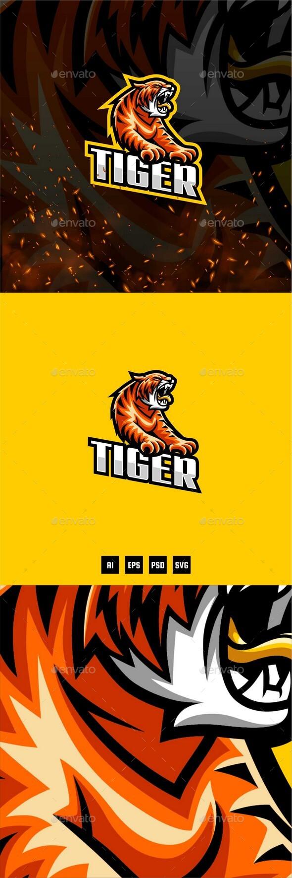Tiger E-Sport and Sport Logo Template